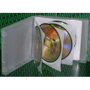 100 BOX Clear + Bustine Flessibili Per 8 CD/DVD