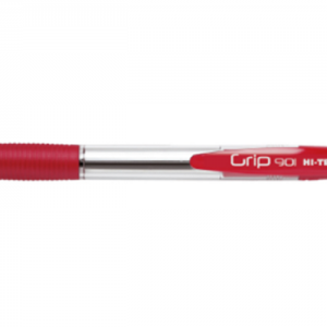 HI-TEXT 901 GRIP penna scatto punta 1 mm Colore ROSSO 12 pz